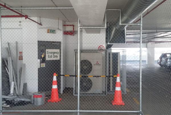 Bike Cage in Carpark Building