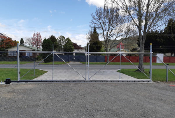 Converted double swinging-gates-to-sliding
