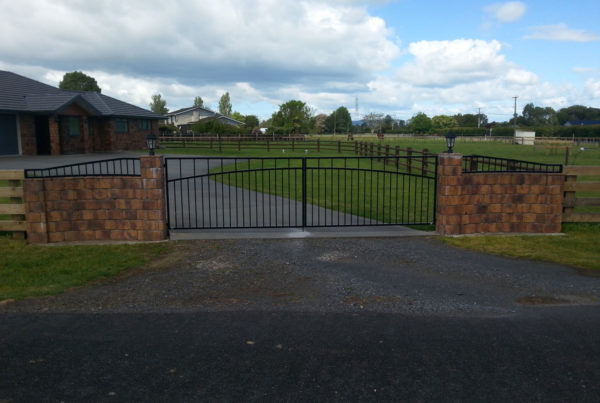 Custom Made Double Swinging Gates