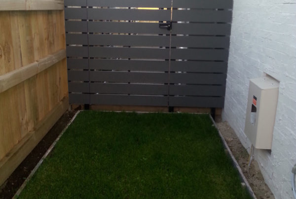 Custom made timber slat gate