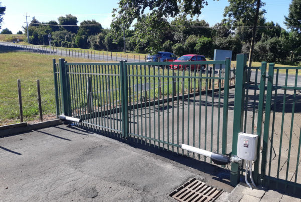 School-Automated-Double-Swinging-Gates
